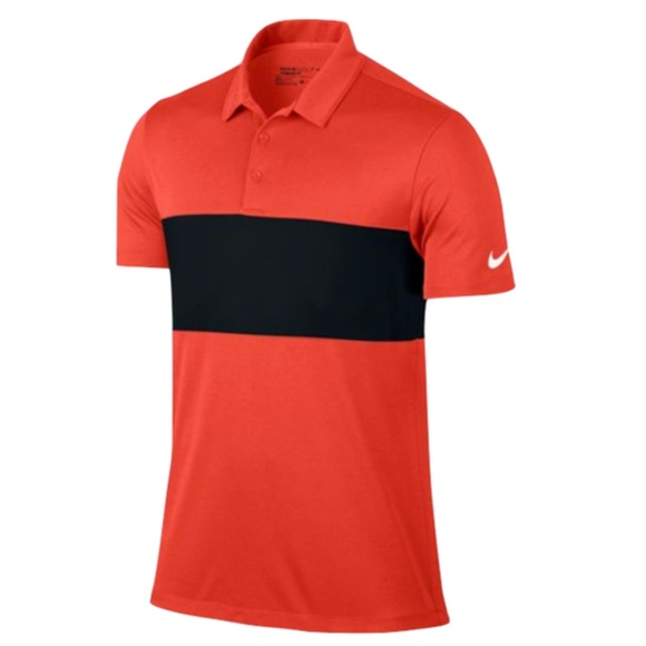 92cbf02e312c Nike Men Breathe Red Black Polo Golf Dri Fit Shirt